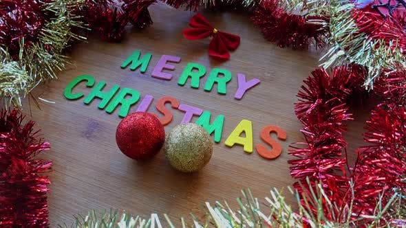 Cover Image for Merry Christmas Word Decoration