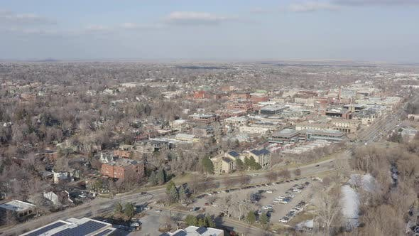Thumbnail for Panoramic Aerial View Of Downtown Boulder Colorado Sunny Afternoon