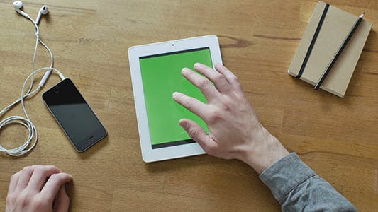 Thumbnail for Tablet With Green Screen