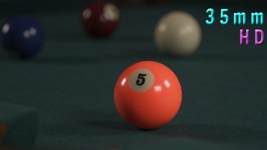 Thumbnail for Billiard Pool Ball 5 Shot Into The Hole