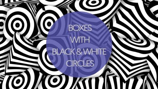 Boxes With Black & White Circles