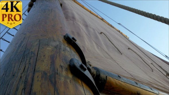 Thumbnail for A Sail Mast of the Ship with a Big Clot
