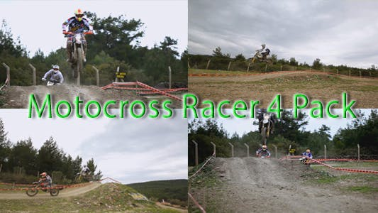 Motocross Racers Flying
