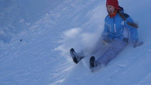 Skating From Snow Slide