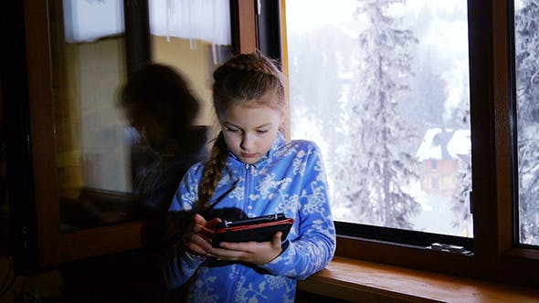 Thumbnail for Girl Near Open Window Looking Into  PC