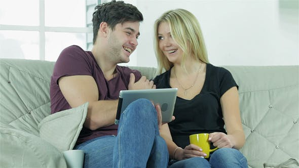 Friends Laughing And Emotionally Discuss Seen