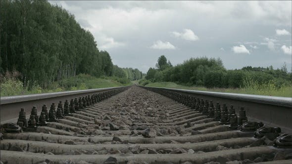 Thumbnail for Black Railway Track of a Train with Big Stones