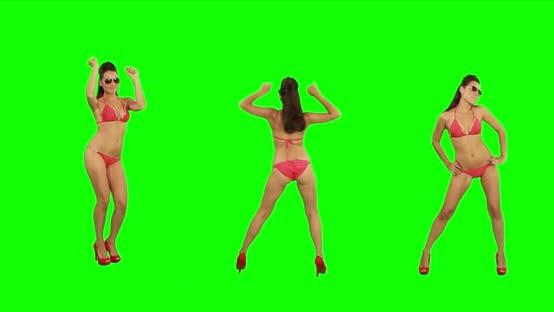 Thumbnail for Girl Dances on Green Screen