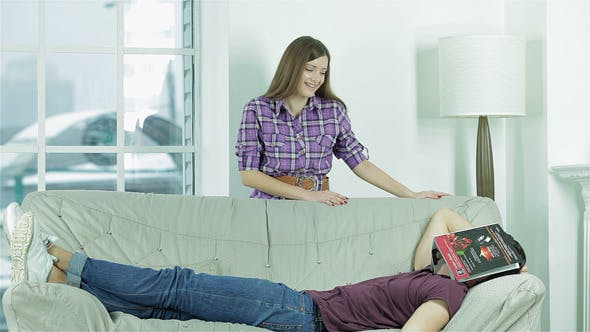 Thumbnail for Boyfriend Resting On The Sofa
