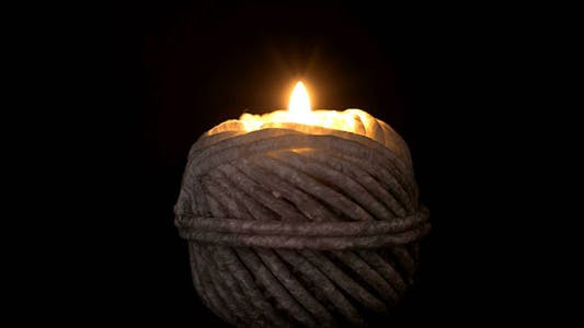 Thumbnail for Ball Of String Shape Candle Burning