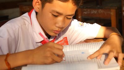Studying In Classroom