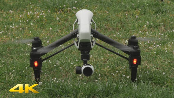 Quadcopter Drone Taking Off