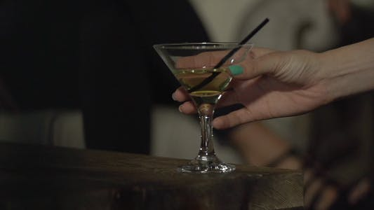 Thumbnail for Female Hand Take Cocktail in the Club