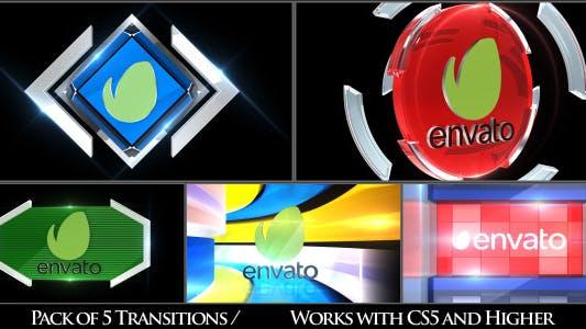 Thumbnail for Broadcast Logo Transition Pack V3