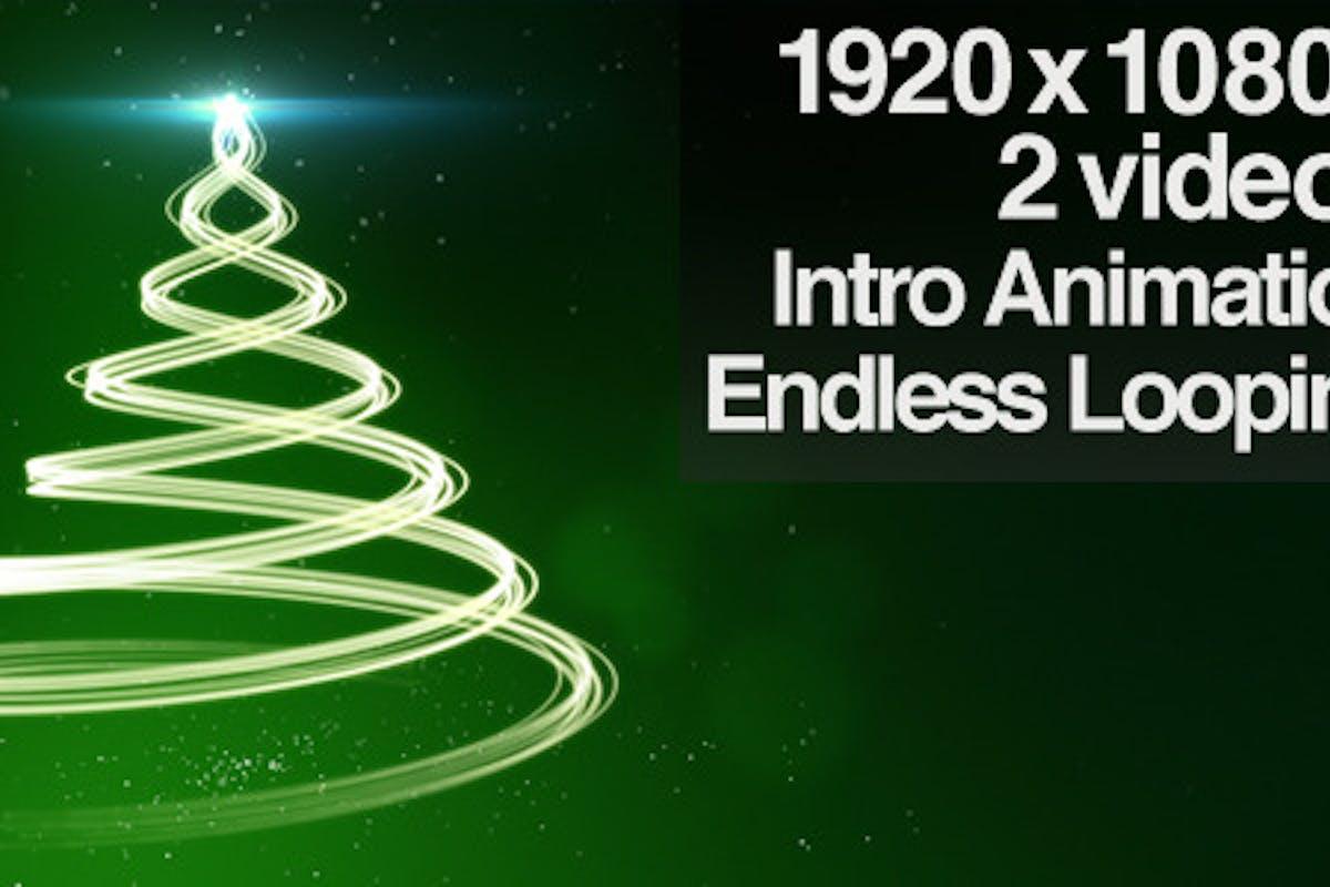 Green Christmas Tree Backdrop - Series of 2 + Loop von butlerm auf ...