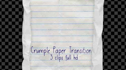 Transition de papier froissé