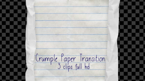 Thumbnail for Crumple Paper Transition