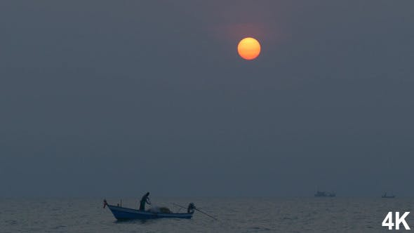 Thumbnail for Fisherman On Sea In The Morning