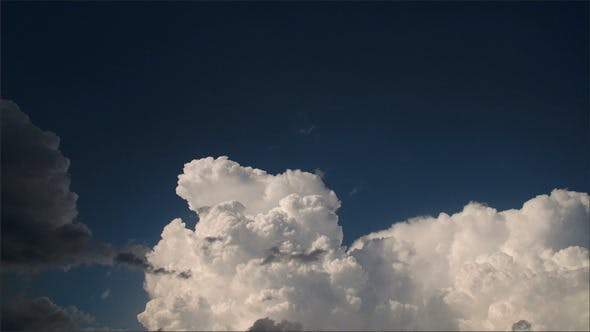 White Thick Cumulus Clouds