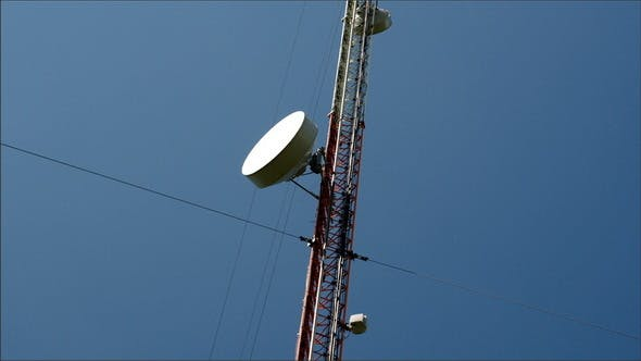 Thumbnail for The Circular Dish from a Gsm Tower