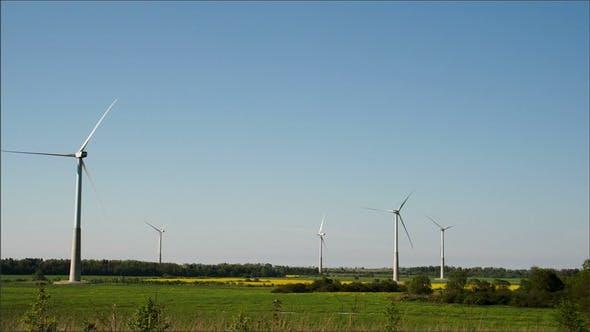 Five Big Windmills on Standby