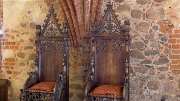 Thumbnail for The Kings Chair Displayed Inside the Old Castle in