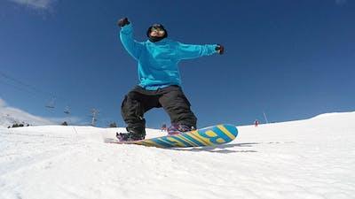 Friends Snowboarding