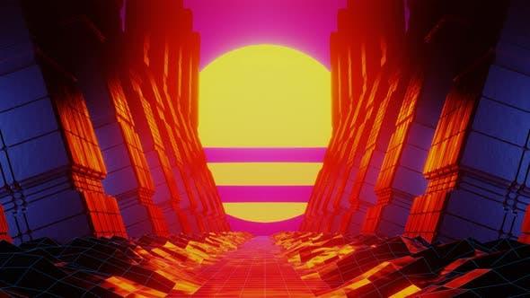 Thumbnail for Rock Tunnel and Futuristic Orange Sun