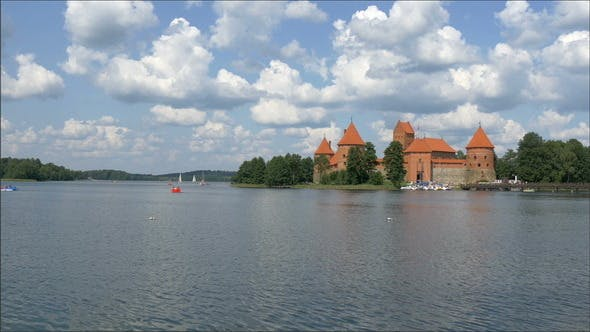 Thumbnail for A Red Medieval Castle in Trakai Lithuania