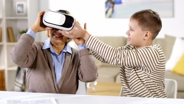 Cover Image for Grandmother and Grandson Using VR Glasses