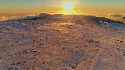 Ski Resort Skiing Sunset