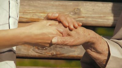 Hands of the Elderly.