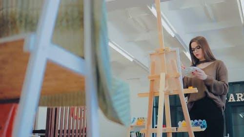 Workplace in an Art Studio