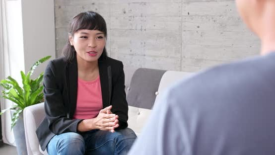 Thumbnail for Businesswoman talking to her client at office