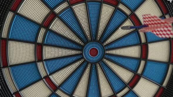 Darts Hitting Board in Slow Motion