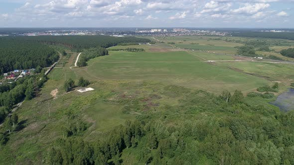 Aerial view of Plot for the construction of an industrial facility. 07