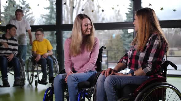 Thumbnail for Cheerful Disabled People During Communication
