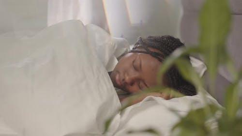 Young Black Woman Sleeping