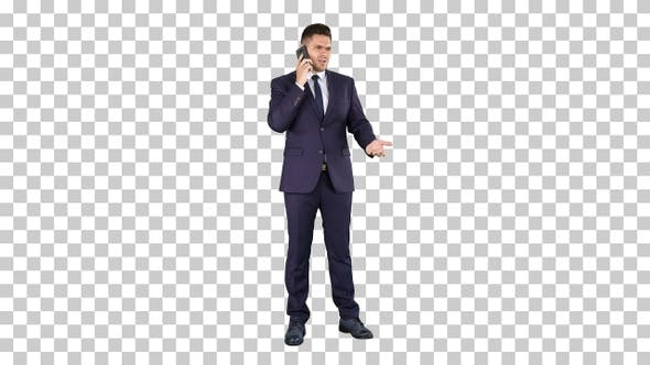 Thumbnail for Business Technology and People Concept - Smiling Businessman