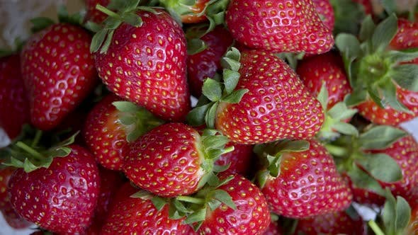 Strawberries, Rotating, Close-Up