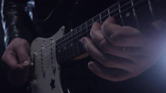 Playing Guitar Close Up