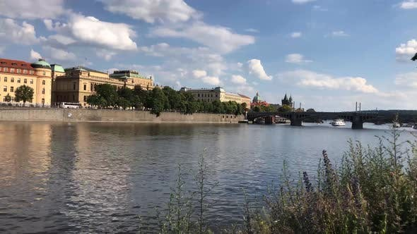 Thumbnail for Time lapse from cruise boats at the Vltava river