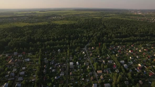 Thumbnail for Countryside Landscape in Russia, Aerial View