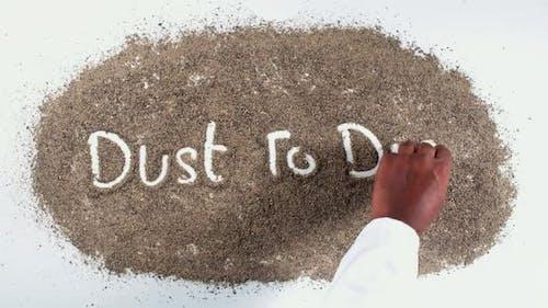 Finger Writing On Pepper Dust To Dust