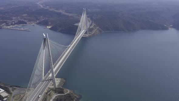 Thumbnail for Istanbul Yavuz Sultan Selim Bridge Aerial View 14