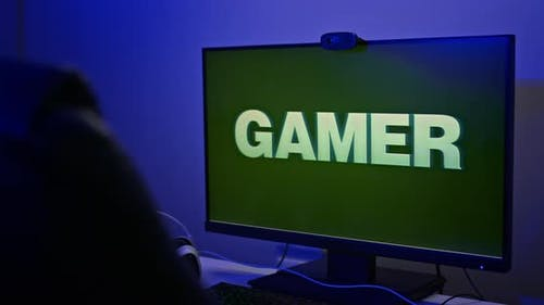 Powerful Gaming Rig for Gamer Large Backlit Monitor