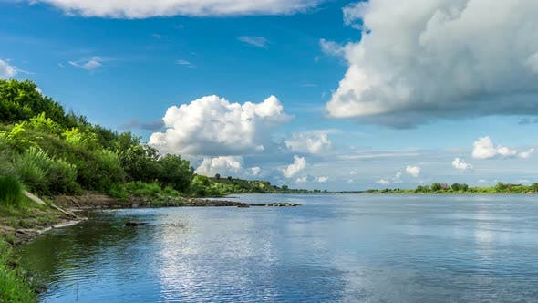 Cover Image for Beautiful landscape on the River Vistula.