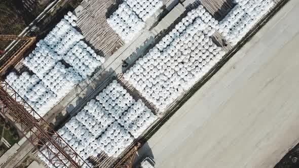 Baustoff-Lager