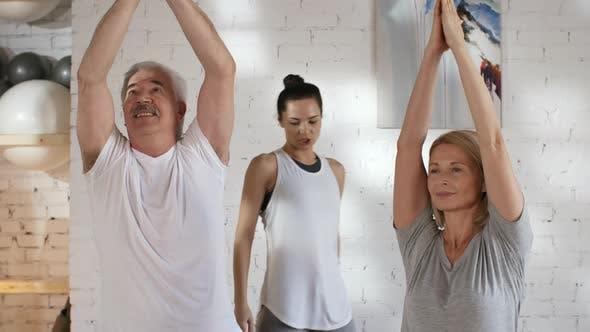 Thumbnail for Female Yoga Teacher Correcting Postures during Class