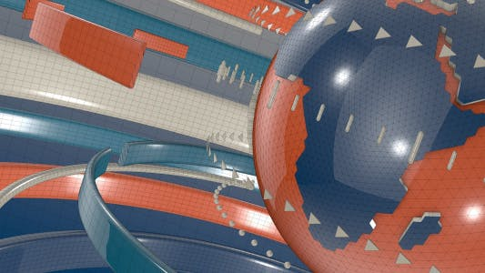 3D地球环绕抽象新闻包装片头背景视频素材 3D Earth Abstarct Motion Background